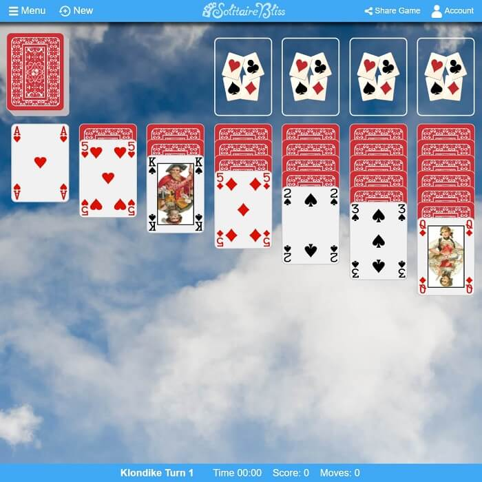 Solitaire Bliss Double Klondike Solitaire Turn Three